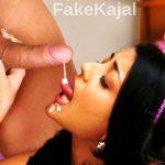 Kajal Aggarwal licking cum after blowjob private leak