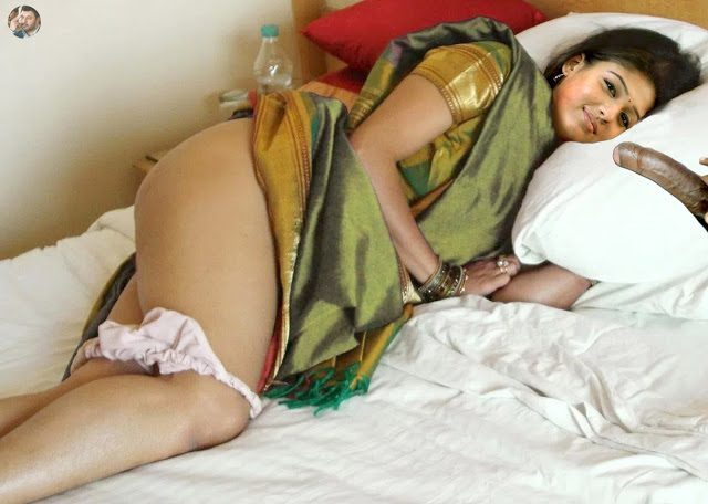 Nayandara tasting in her saree showing nude ass naked thigh