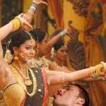 Sneha shaved armpit cum shot by her dance master while shooting song