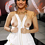 Trisha boobs show without bra sexy nude nipple in live chat with fans