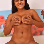 Nimisha Sajayan pressing her boobs shaved pussy full nude body
