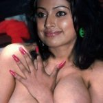 Sneha touching her busty boobs without bra and blouse hot nipple pic