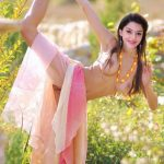 Mehrene Kaur Pirzada naked yoga in outdoor shooting
