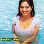 Nude Hot singer Sunitha big boobs wet nipple see through xxx image