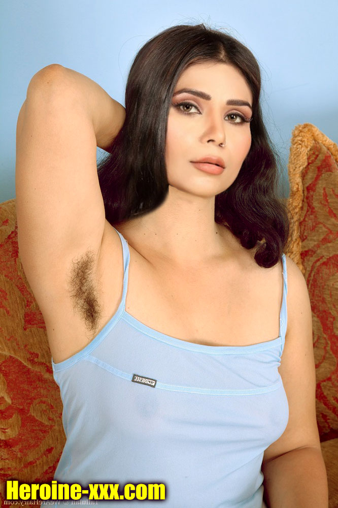 Annie sharma hairy armpit sexy sleeveless blouse image