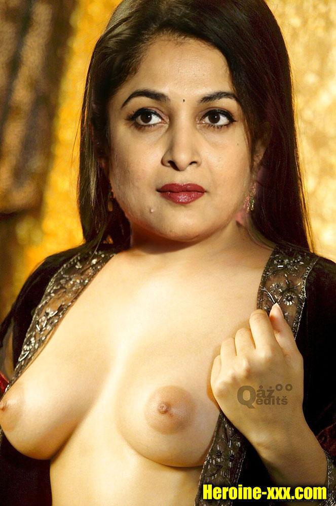 Ramya Krishnan showing her young age nude boobs nipple photo