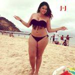 Poonam Bajwa semi nude bikini photo in nude beach