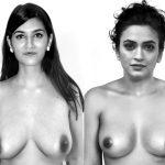 Topless Kriti Sanon vs Kriti Kharbanda picture without bra
