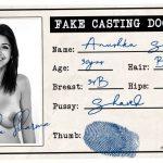 Anushka Sharma fake casting document id card photo
