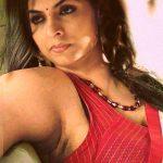 Asha Sarath hot armpit in sleeveless blouse sexy milf actress