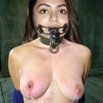 Nazriya Nazim mouth torture topless nipple chained naked bdsm pic