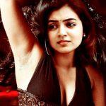 Nazriya armpit clean shaved actress showing in sleeveless dress