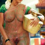 Anjali wearing transparent saree sexy body exposed nipple see though