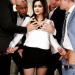 Kriti Kharbanda boobs pressed in black bra group hand job xxx fake