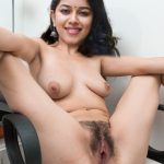 Full nude mirnalini ravi spreading her leg showing hairy pussy