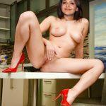 Naked Kajal fingering her shaved pussy on producer table 2020 fake