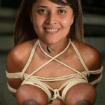 Anasuya Bharadwaj big boobs tied black nipple bdsm torture