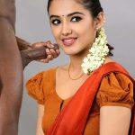 Malvika Sharma nude hot blouse blowjob black cock half saree