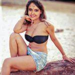 Nisha Ravikrishnan sexy black bra xxx outdoor image