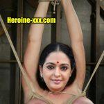 Old Actress Seetha aunty big boobs tied bondage latest stills