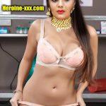 Sreemukhi nude bra and panties sexy navel no dress bikini