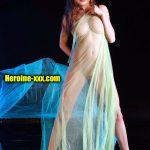 Actress Sanjana Sanghi sexy body nude transparent saree photo