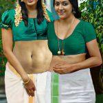 Anju Kurian sexy blouse xxx lesbian with Anu Sithara xxx no Saree pic
