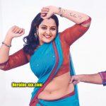 Manju Warrier nude hip deep navel semi nude saree hot blouse