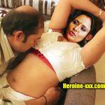 Mom Actress Nisha Sarangh hot blouse nude navel without saree