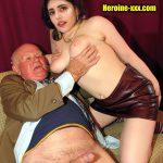 Old Bollywood producer pressing Sanjana Sanghi nude boobs pink nipple