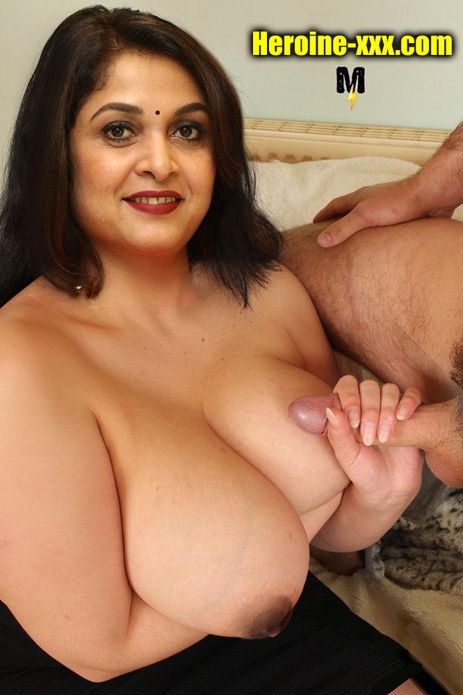 Sexy milf Ramya Krishnan busty big boobs handjob photo